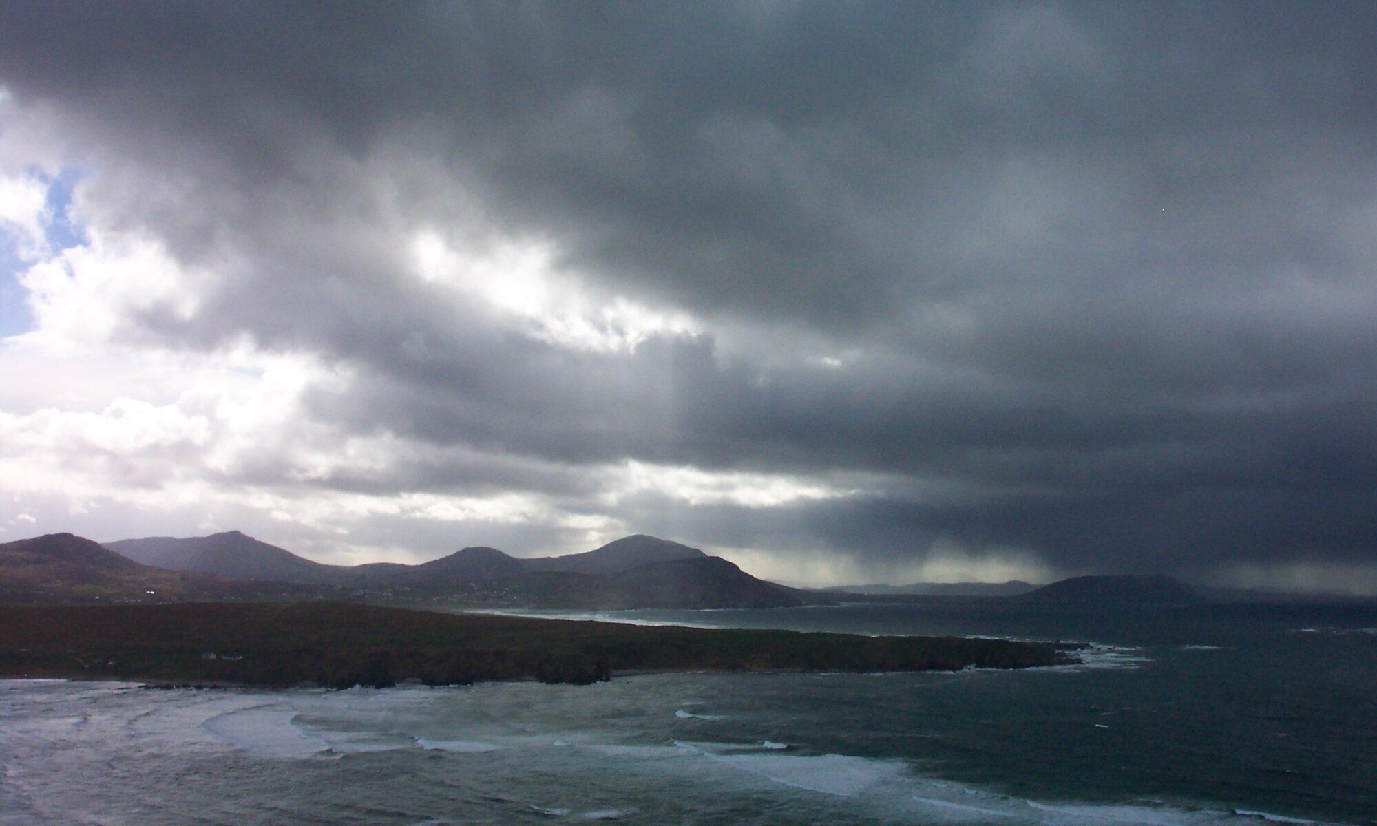 Stormy sea and sky at Malin Head, Ireland