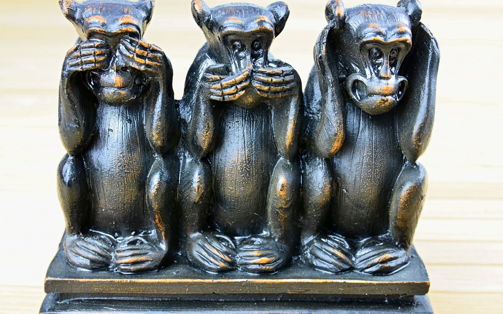 Three Monkeys - See No Evil - Speak No Evil - Hear No Evil