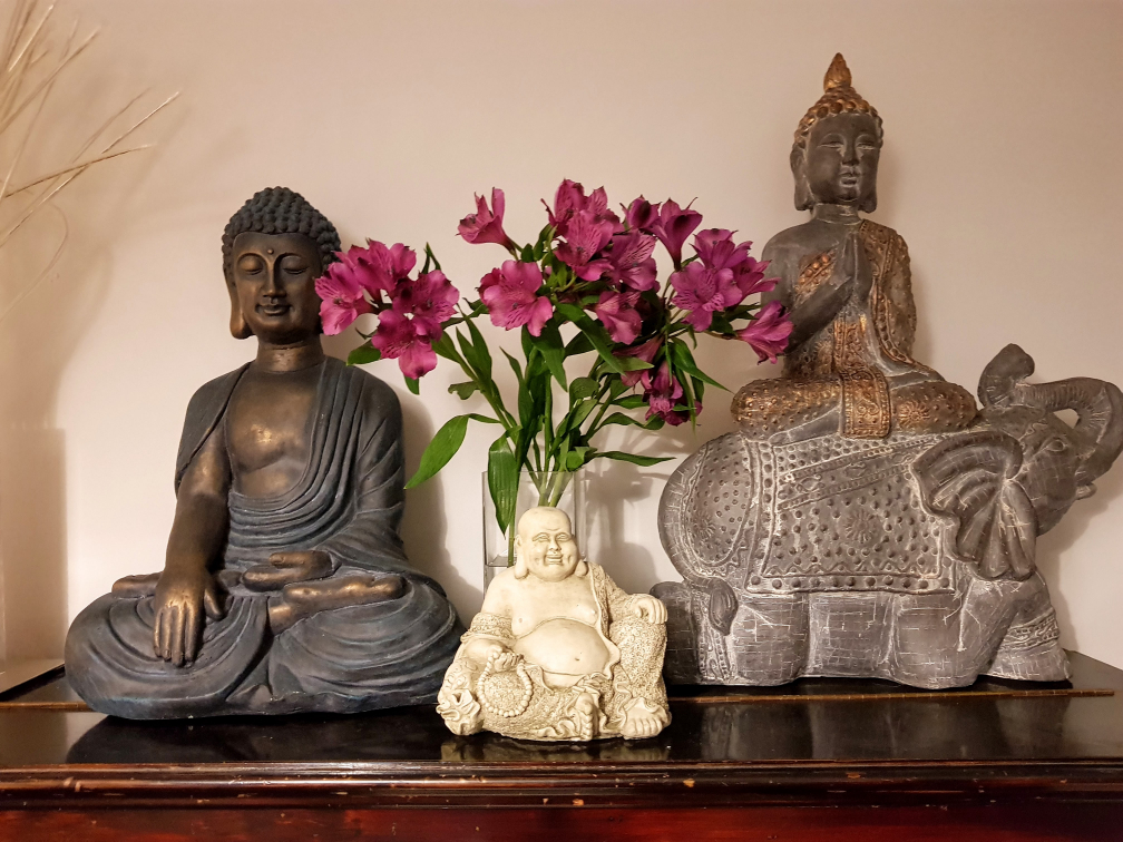 Collection of Buddha statues