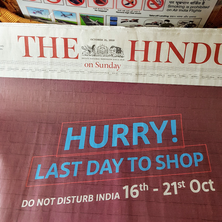 "Newspaper Headline ""Hurry! Last Day to Shop"""