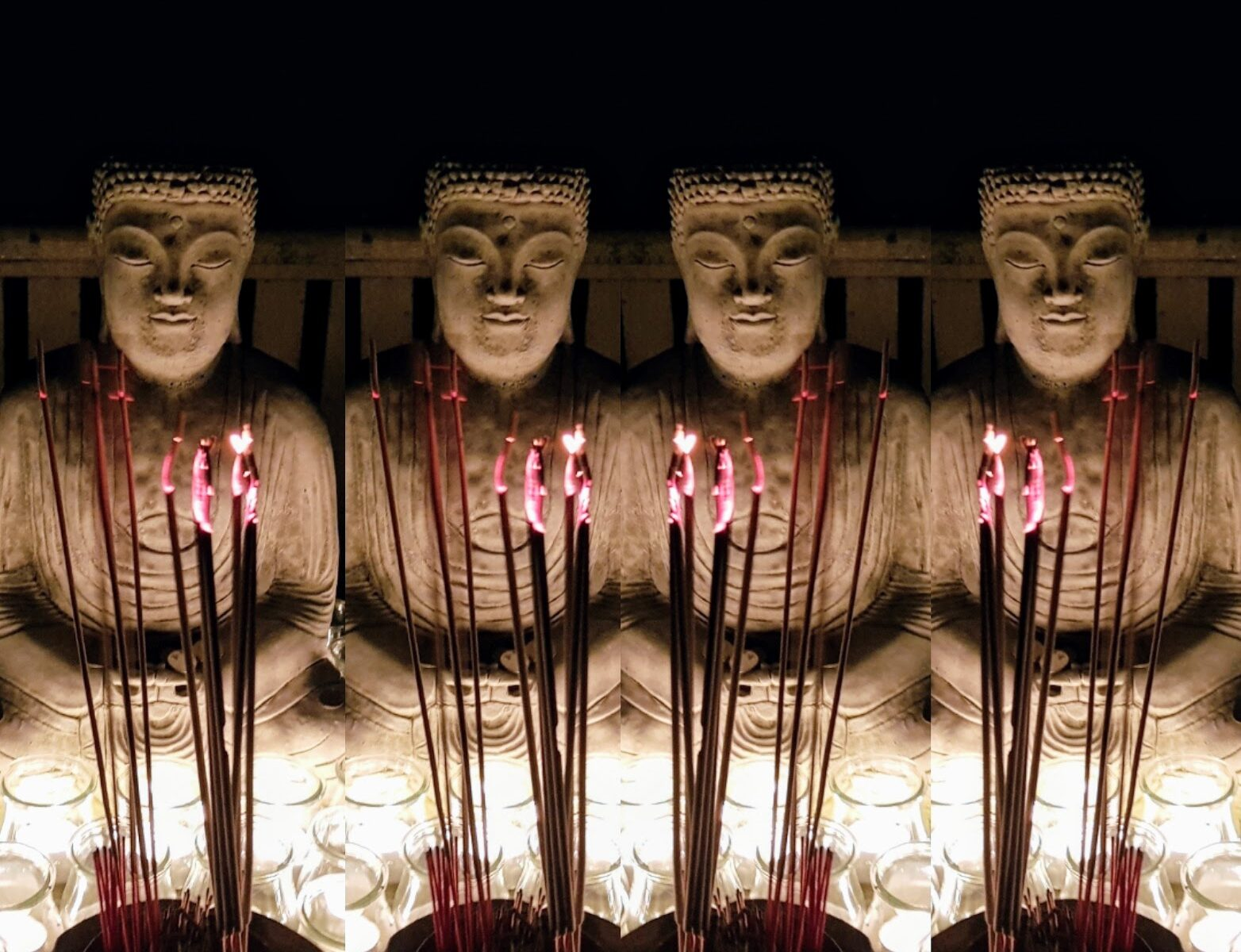 Buddha Statue by candlelight