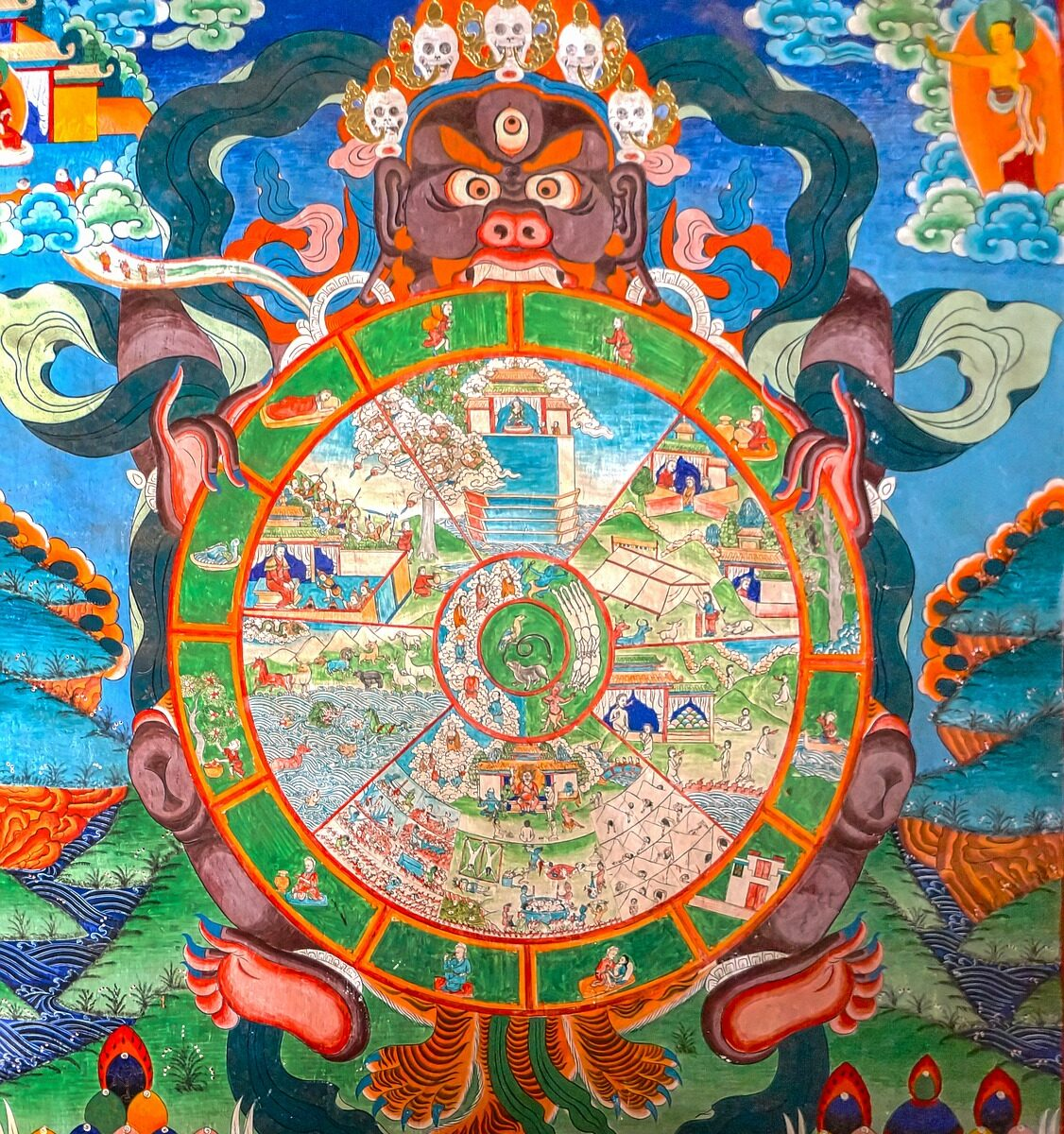 Traditional Image of the Buddhist Wheel of Life
