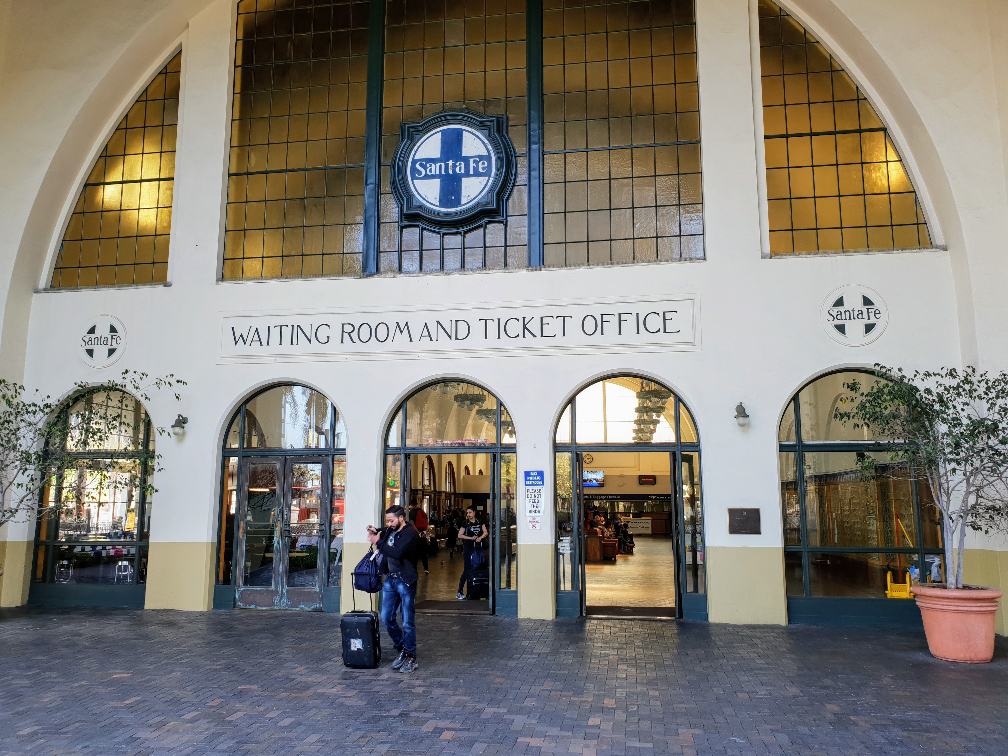 Exteria photo of Waiting Room at Santa Fe Depot Amtrak Station, San Diego
