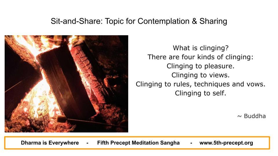 Burning Logs with flames clinging (upadana)