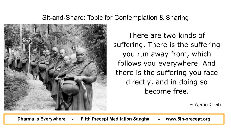 Ajahn Chah and monks on alms round