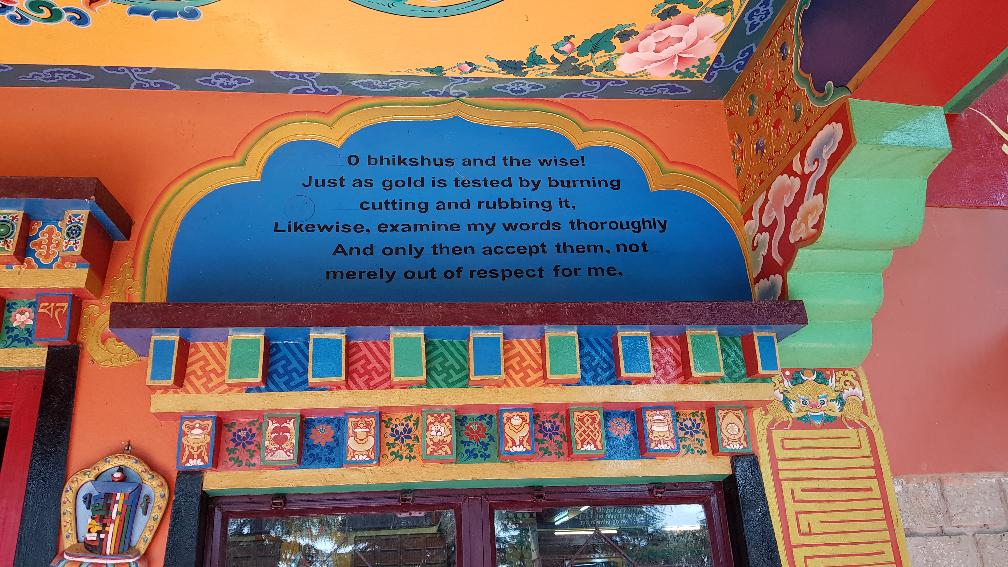 "Fresco at Tushita Meditation Centre"" - Mcleod Ganj, HP, India - October 2019"
